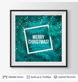 fir tree frame composition vector image vector image