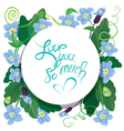 flowers round card 380 vector image vector image