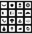 Food icons set simple style vector image vector image