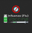 for influenza vaccination vector image