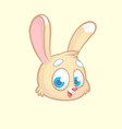 funny and cute cartoon rabbit head vector image vector image