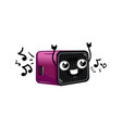 funny digital radio receiver cartoon character vector image vector image