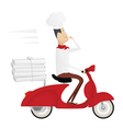Funny italian chef delivering pizza vector | Price: 1 Credit (USD $1)