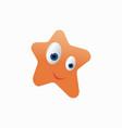 funny star cartoon vector image vector image