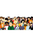 group diverse people vector image vector image