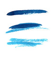 grunge brush stroke blue set vector image