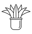 home succulent icon outline style vector image vector image