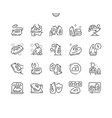 iron well-crafted thin line icons vector image vector image