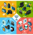 Isometric Photo Video Set vector image vector image