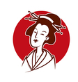 japanese woman vector image