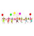 joyful children with gifts vector image