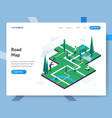 landing page template road map isometric vector image