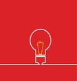 light bulb idea red vector image