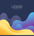 liquid background vector image vector image
