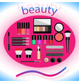 makeup that says beauty vector image
