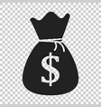 money bag icon in flat style moneybag with dollar vector image