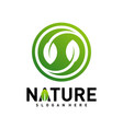 nature leaf green logo design concepts vector image