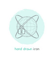 network protection icon line element vector image vector image