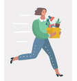 new job business concept vector image