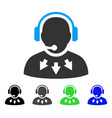 operator message flat icon vector image vector image