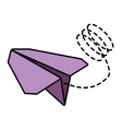 paper plane toy entertain line dotted vector image vector image