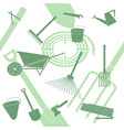 pattern composed of garden equipment vector image