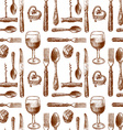 pattern with cutlery vector image vector image