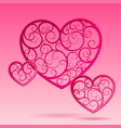 pink decorative paper hearts vector image