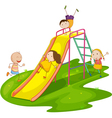Playground Slide vector image