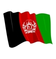 political waving flag of afghanistan vector image vector image