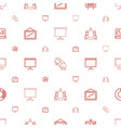 presentation icons pattern seamless white vector image vector image