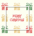 red golden green colored gift box christmas vector image
