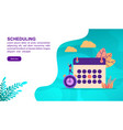 scheduling concept with character template for vector image vector image