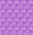 Seamless Pattern with Bicycles Background vector image vector image