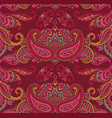 seamless pattern with henna mehndi floral vector image vector image