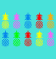 seamless summer pineapple fruit with vivid fashion vector image vector image