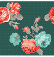 Seamless Vintage Flower Background vector image