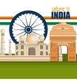 set monuments india design vector image vector image