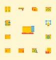 set of website icons flat style symbols with web vector image vector image