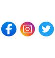 set social media logo vector image