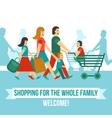 Shopping Center Concept vector image vector image