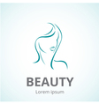 Sign of a woman face logo template vector image vector image