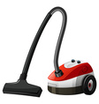 Single vacumm cleaner with wheels vector image vector image