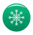 snowflake icon green vector image