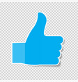sticky paper thumbs up sign note on transparent vector image vector image