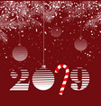 template christmas card for wallpaper banner vector image