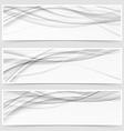 Three shadow swoosh header set layout vector image vector image