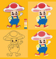 uncle mushroom vector image vector image