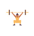 weightlifting woman vector image vector image