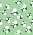 white flowers seamless pattern design vector image vector image